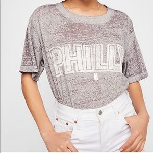 Free people Philly gray burnout tee oversized L